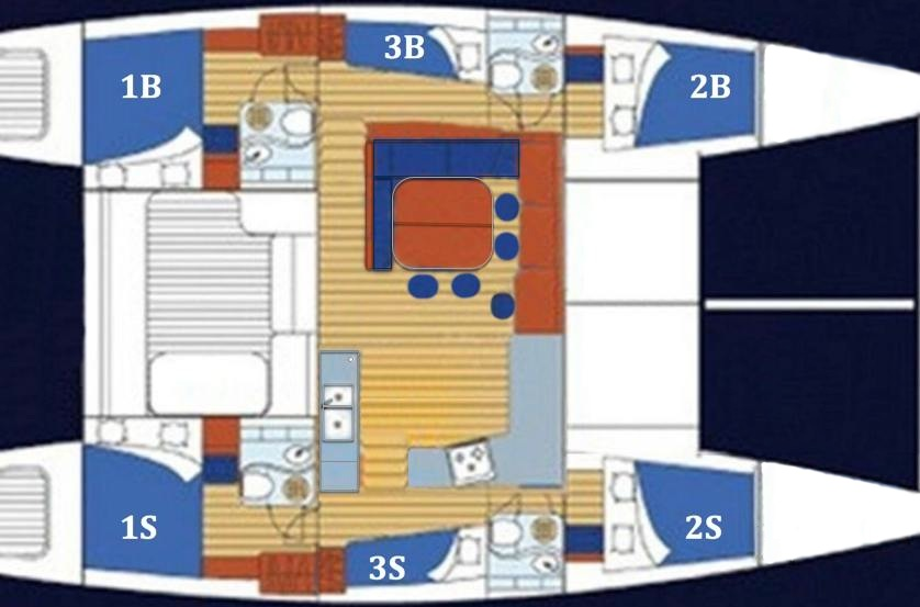 Layout Lagoon 470 Fascination Segeln