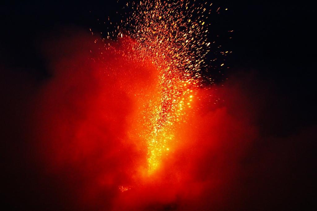 Stromboli Lava Fontäne