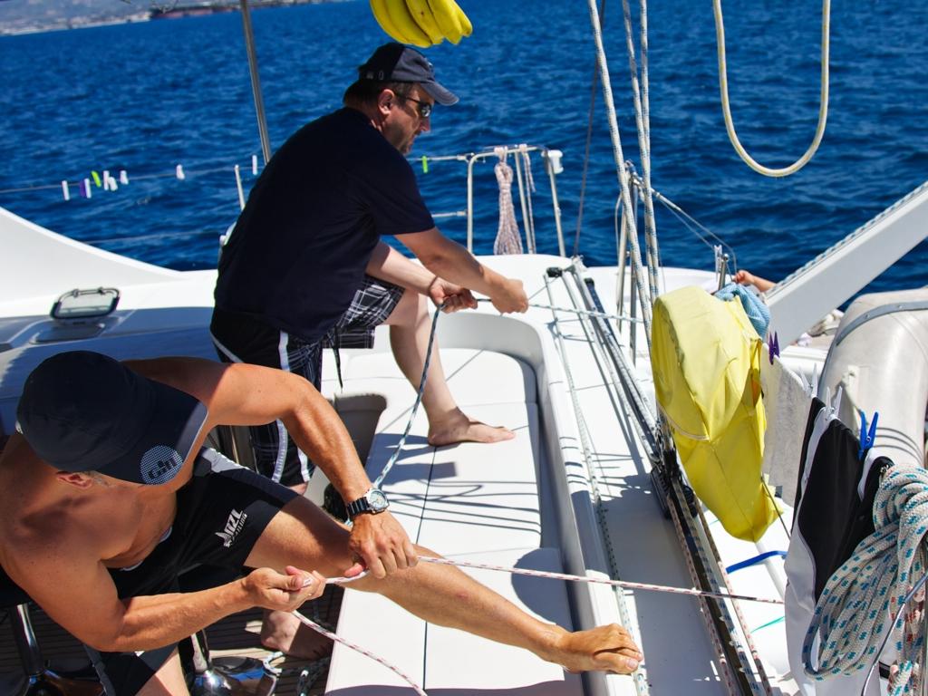 Skipper Artur und Viktor